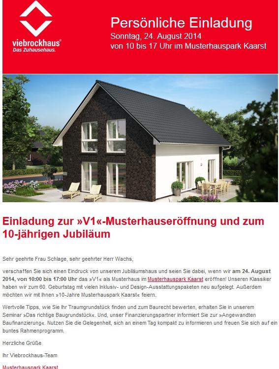 Eröffnung Musterhaus V1 Und 10 Jahre Musterhauspark Kaarst Unser